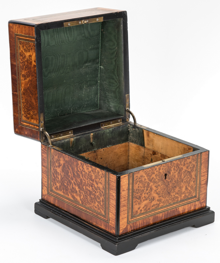 Lot 346: Georgian Document Box & Birdseye Maple Box