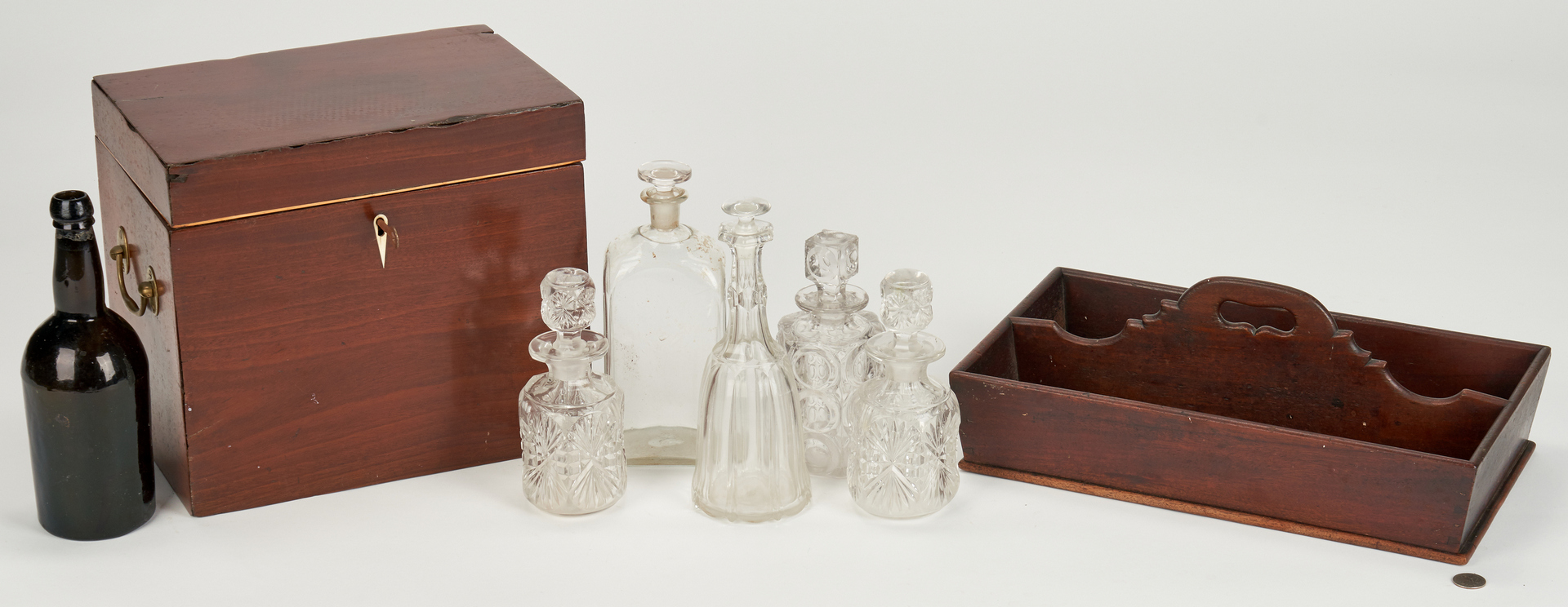 Lot 347: Case & Bottles plus Cutlery Tray