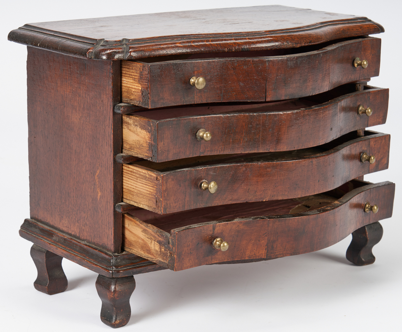 Lot 348: Miniature European Chest of Drawers