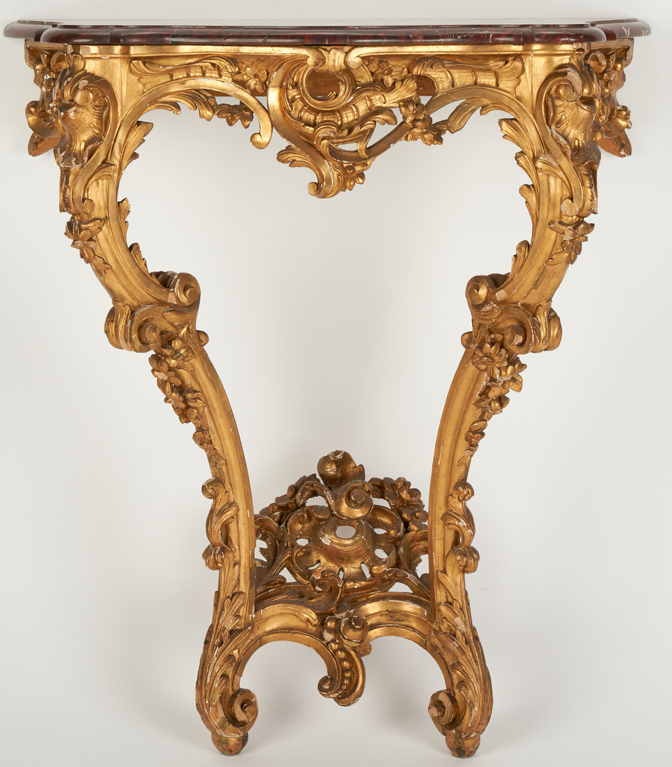 Lot 350: 2 Continental Carved Giltwood Tables