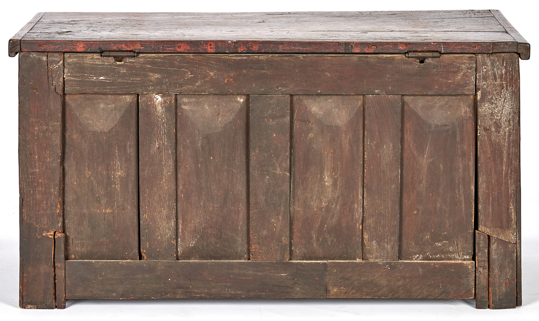 Lot 351: Early Oak Coffer with Linenfold Panels