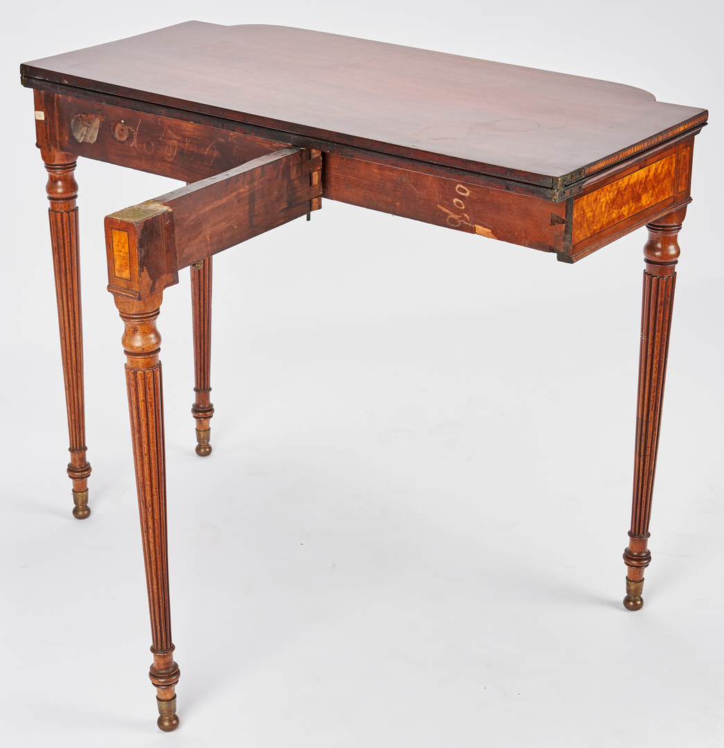 Lot 353: New England Federal Inlaid Card Table