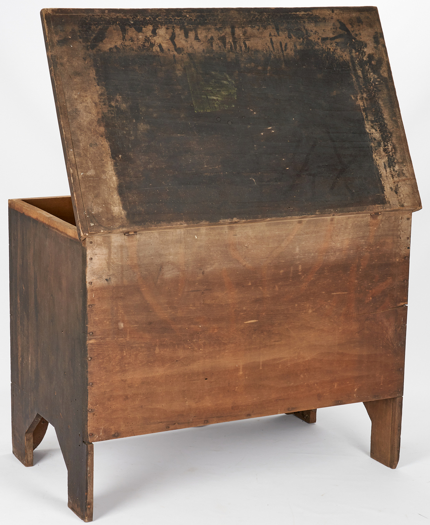 Lot 359: Middle TN Painted Blanket Chest, poss. Signed