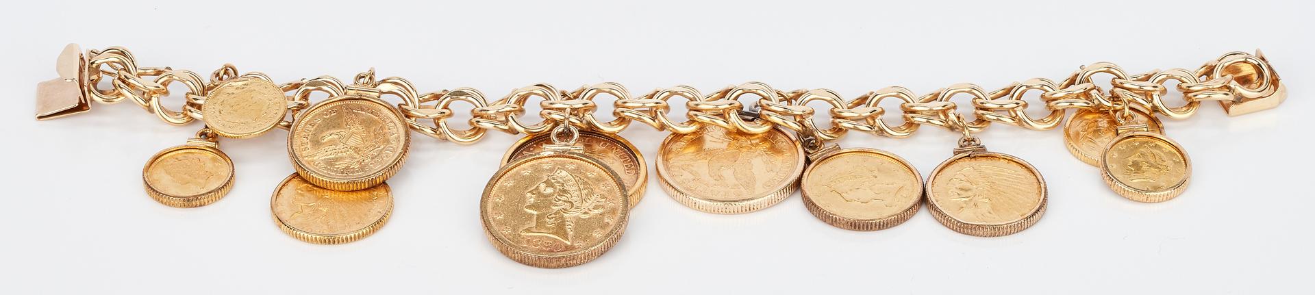 Lot 35: 14K Gold Charm Bracelet, 86.2 grams