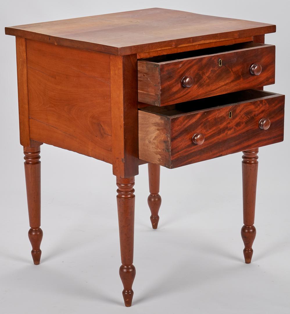 Lot 362: East TN Walnut 2-Drawer Work Table