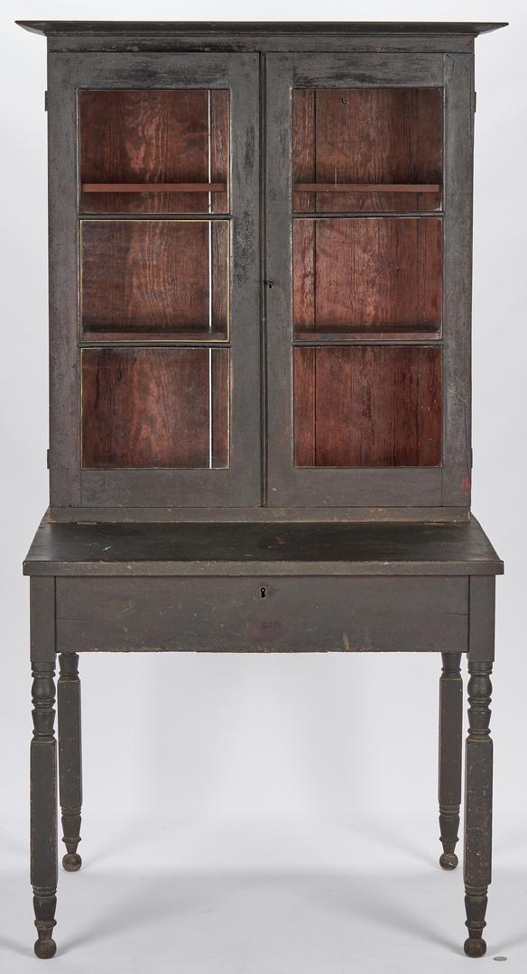 Lot 370: 2-Piece Alabama Cherry Bookcase Desk