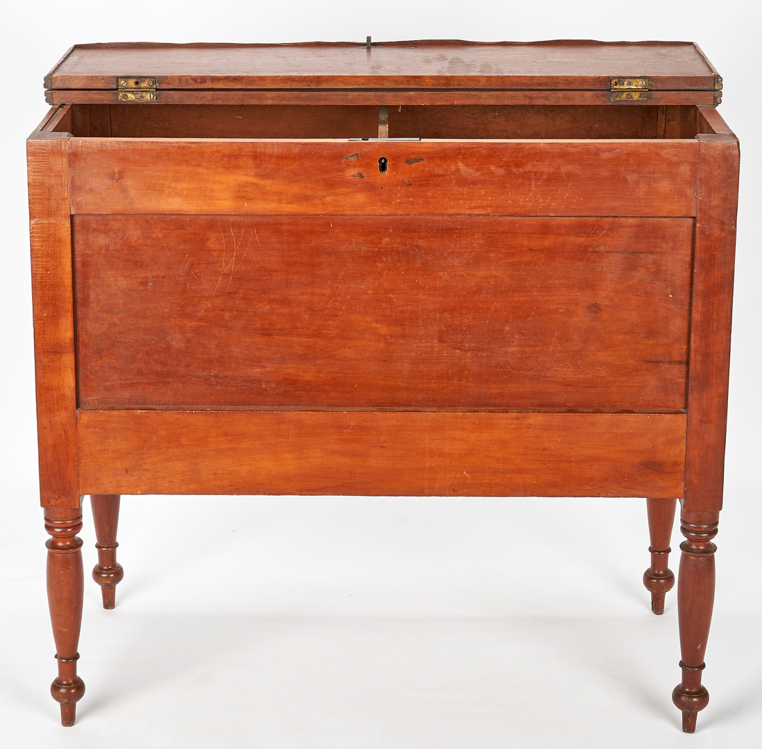 Lot 371: Southern Sheraton Cherry Sugar Chest, TN or KY