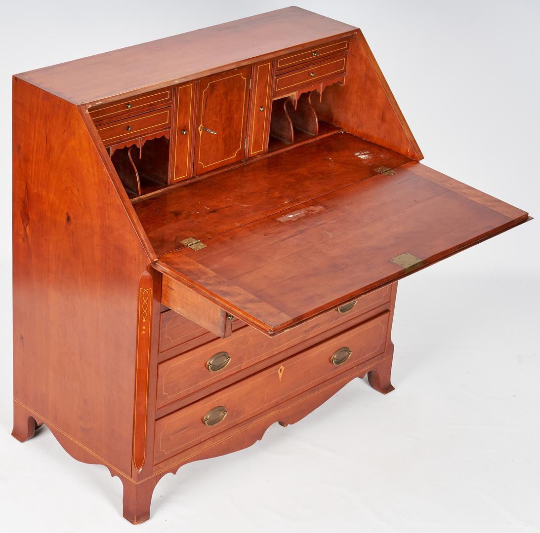 Lot 373: Federal Eagle Inlaid Desk, attr. KY