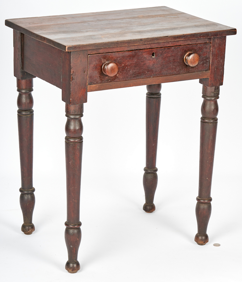 Lot 375: One-Drawer Work Table, Old Surface