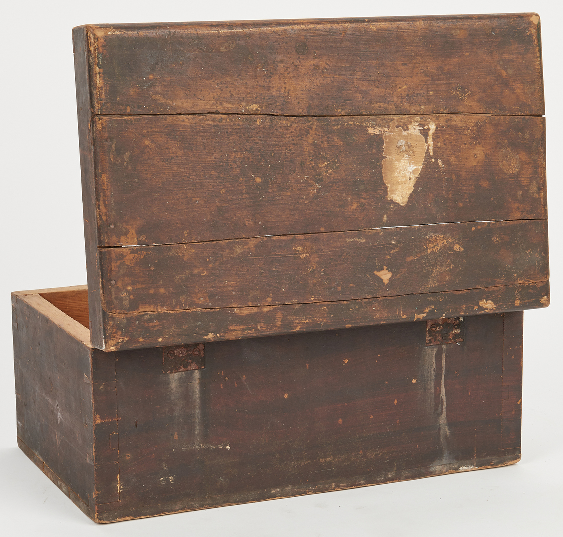 Lot 376: Southern Sugar Box, Painted Spice Cabinet, & Egg Hutch, 4 items