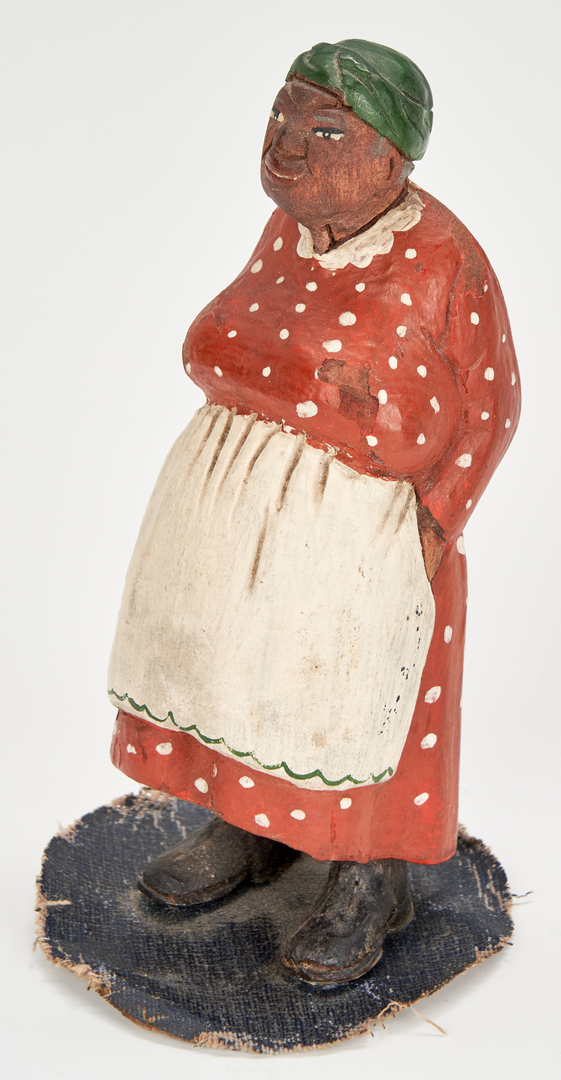 Lot 378: 6 Tom Brown Carved & Painted Folk Art Figures