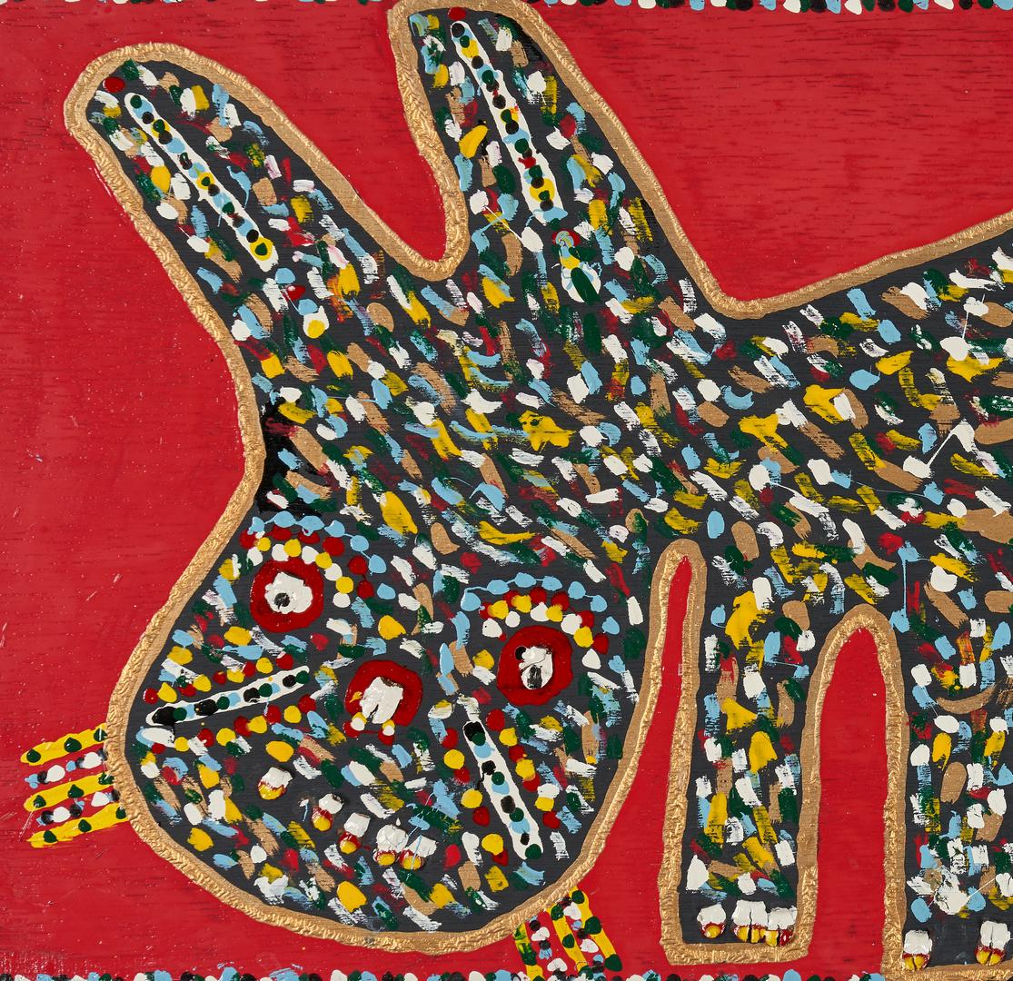 Lot 381: Richard Burnside Folk Art Painting, Black Cat