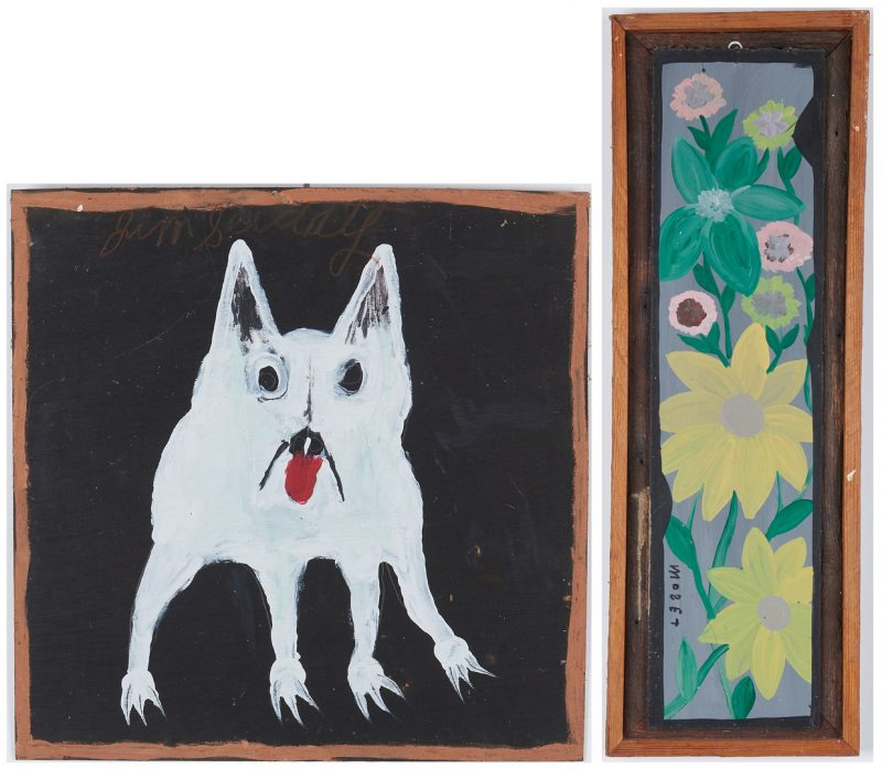 Lot 383: 2 Folk Art Paintings, incl. Sudduth, Mose Tolliver