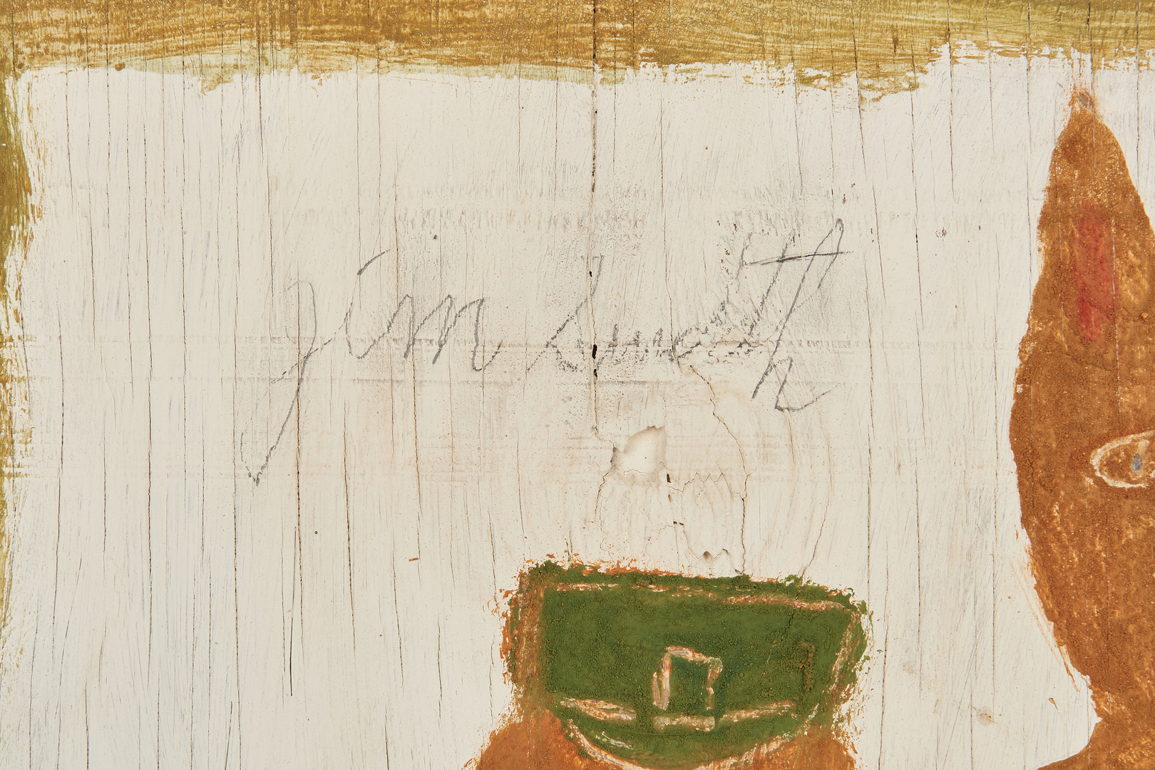 Lot 384: Jimmy Lee Sudduth Self Portrait with Toto