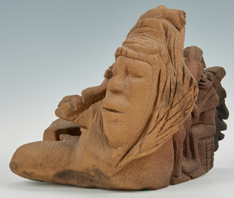 Lot 385: Lonnie Holley Sandstone Sculpture