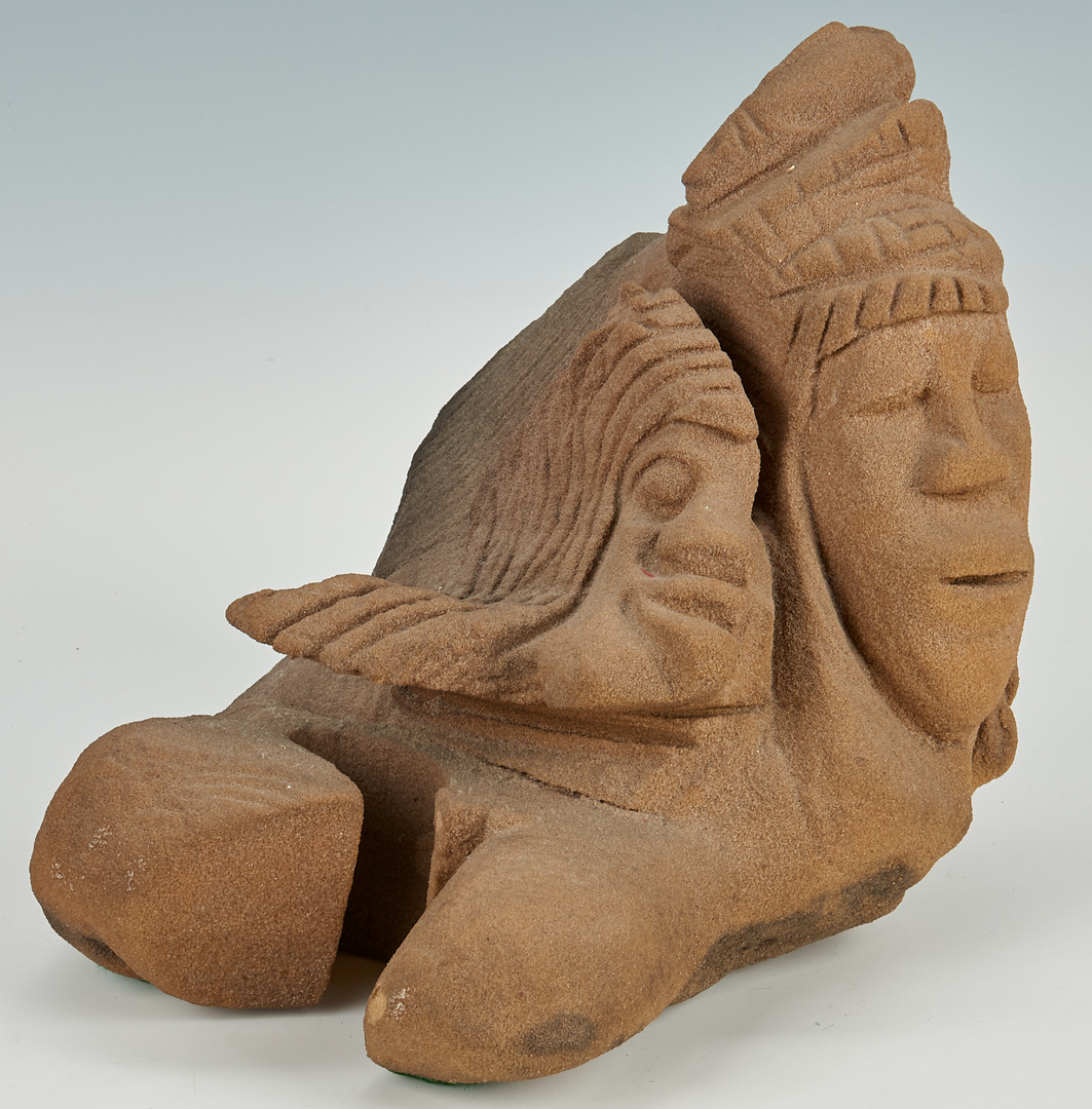 Lot 385: Lonnie Holley Sandstone Sculpture
