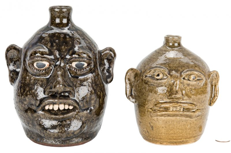 Lot 391: Lanier & Reggie Meaders Pottery Face Jugs
