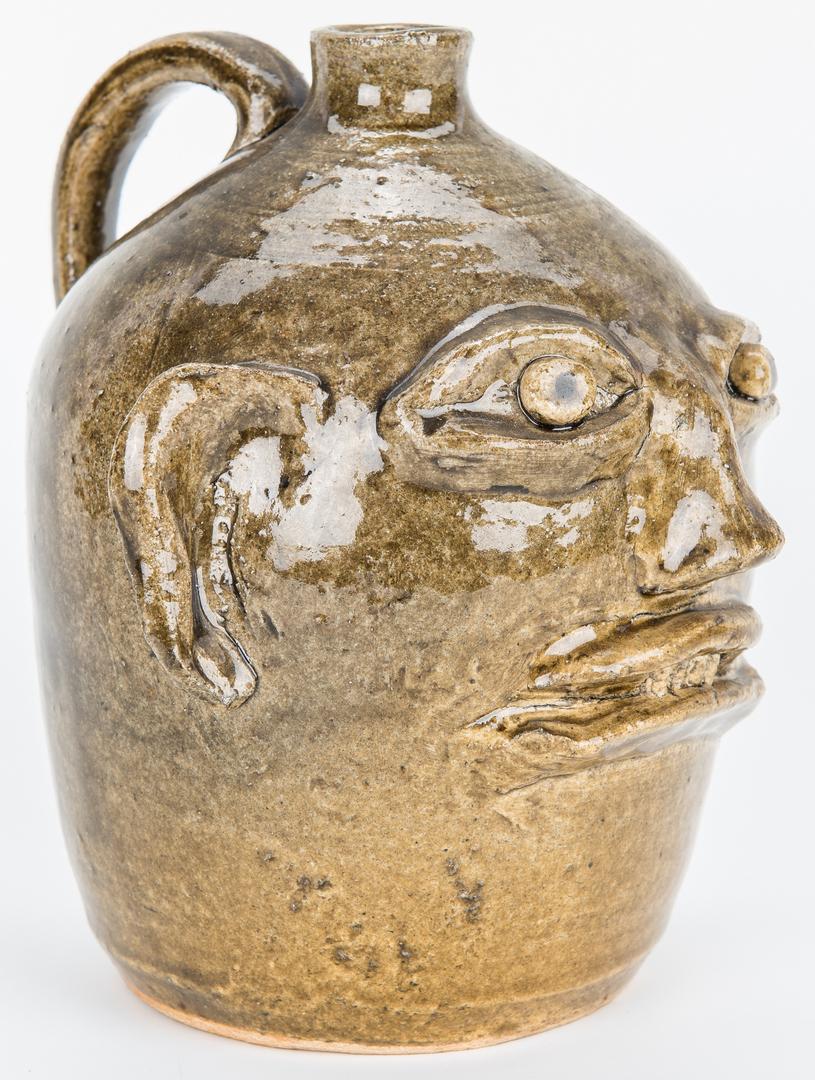 Lot 391: Lanier & Reggie Meaders Pottery Face Jugs