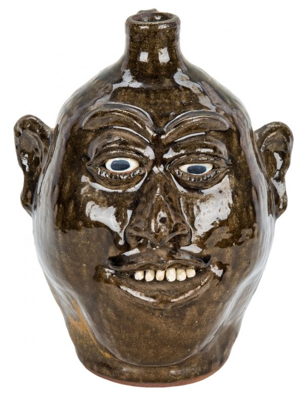 Lot 392: Lanier Meaders Folk Art Pottery Face Jug
