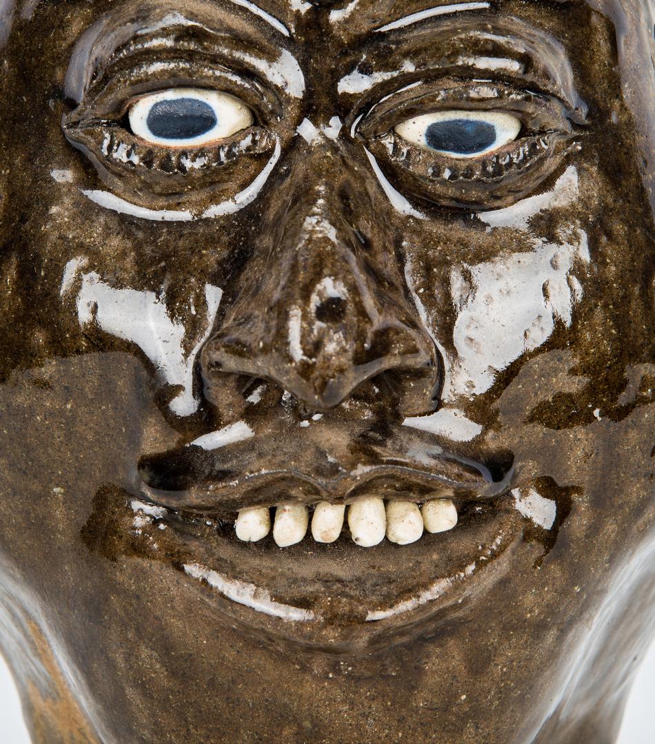 Lot 392: Lanier Meaders Folk Art Pottery Face Jug