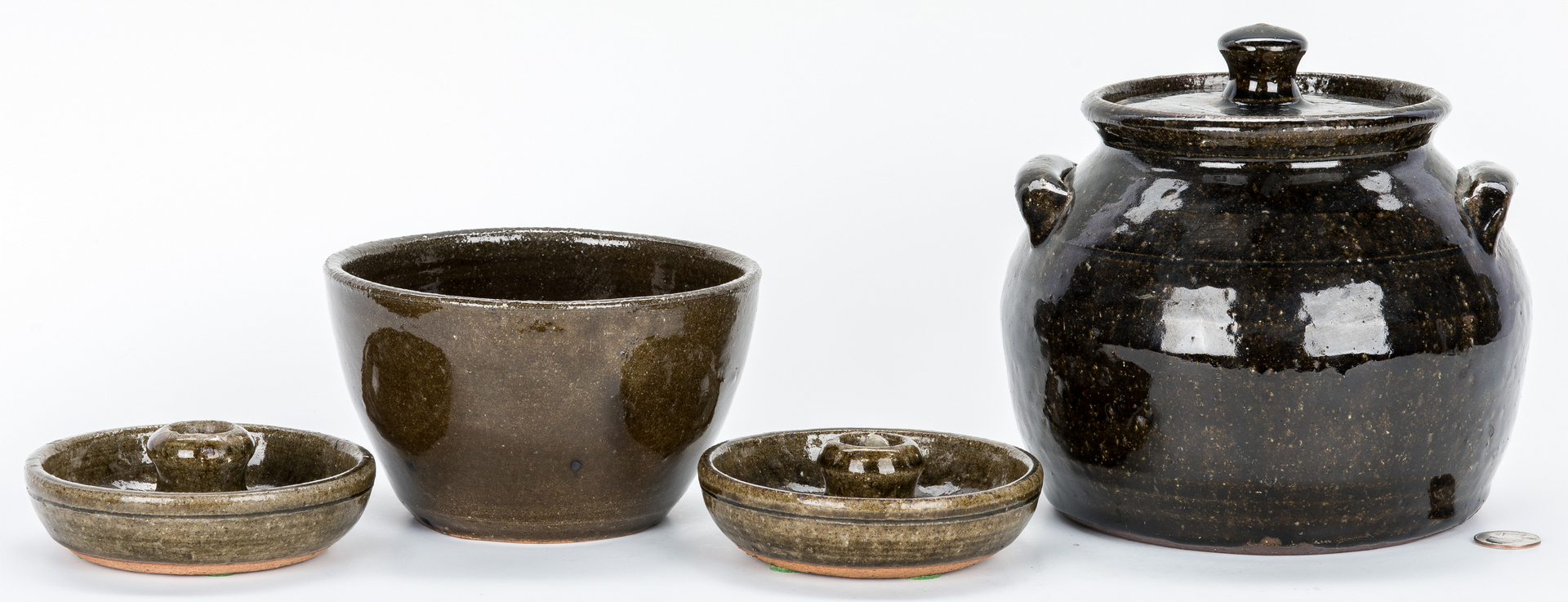 Lot 393: 4 Pcs. Lanier Meaders & Arie Meaders Pottery