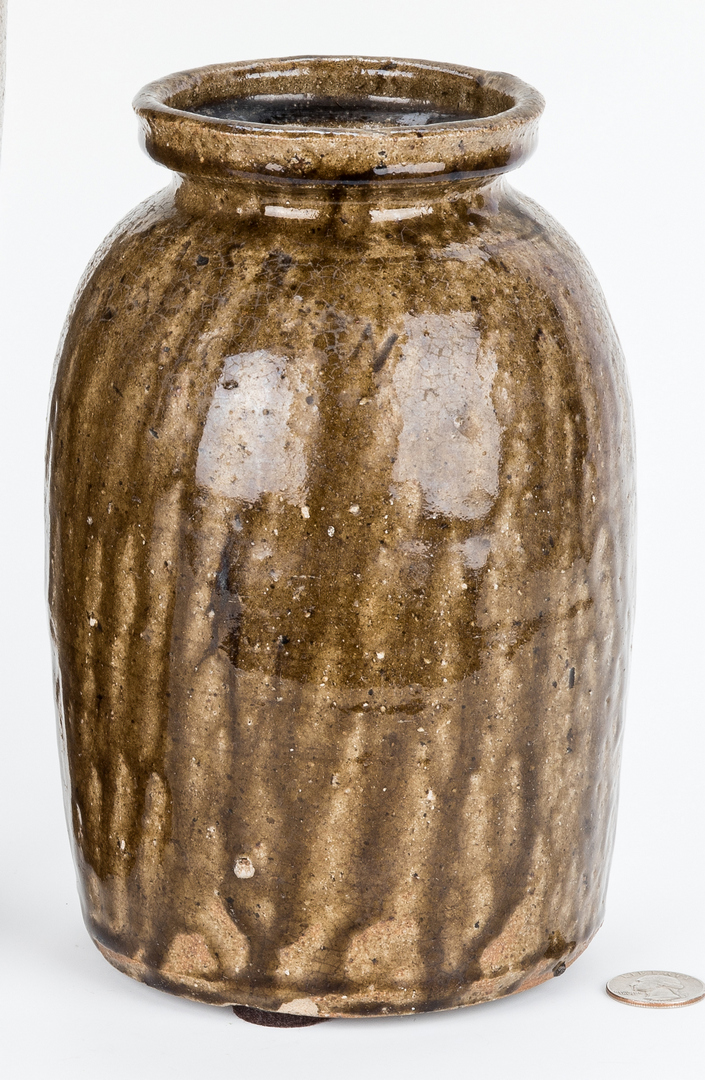 Lot 400: NC Stoneware Preserving Jar, Luther Seth Ritchie