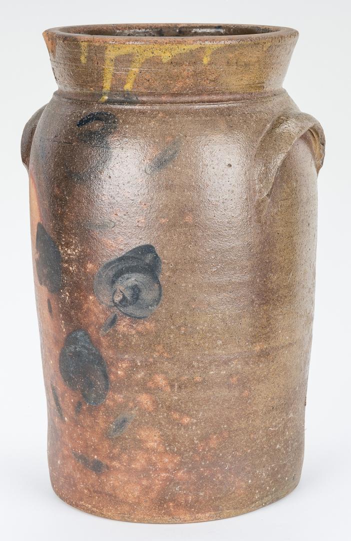 Lot 402: Charles Kline GA Stoneware Jar, Cobalt Decorated