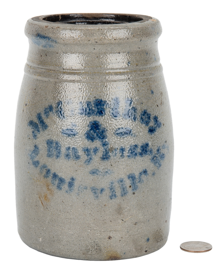 Lot 403: Bayless McCarthy & Co. Stoneware Advertising Jar