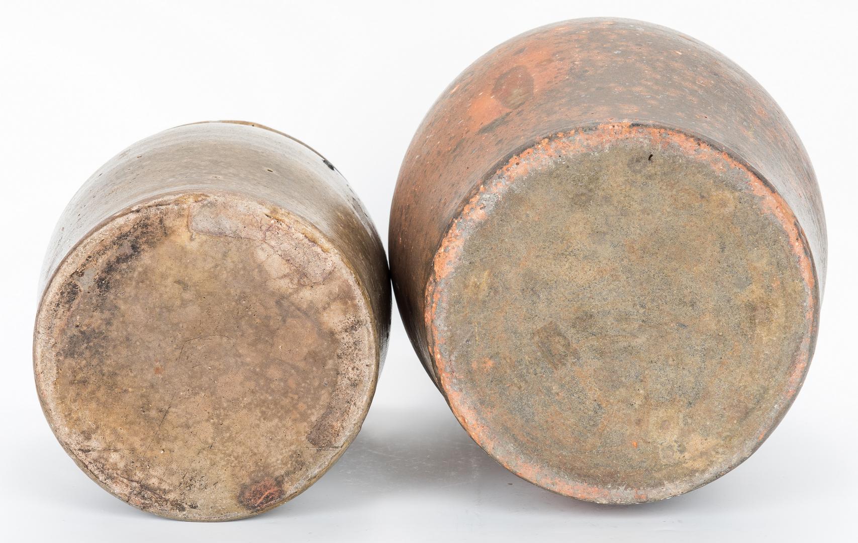 Lot 404: 2 East TN Pottery Jars, Weaver Brothers
