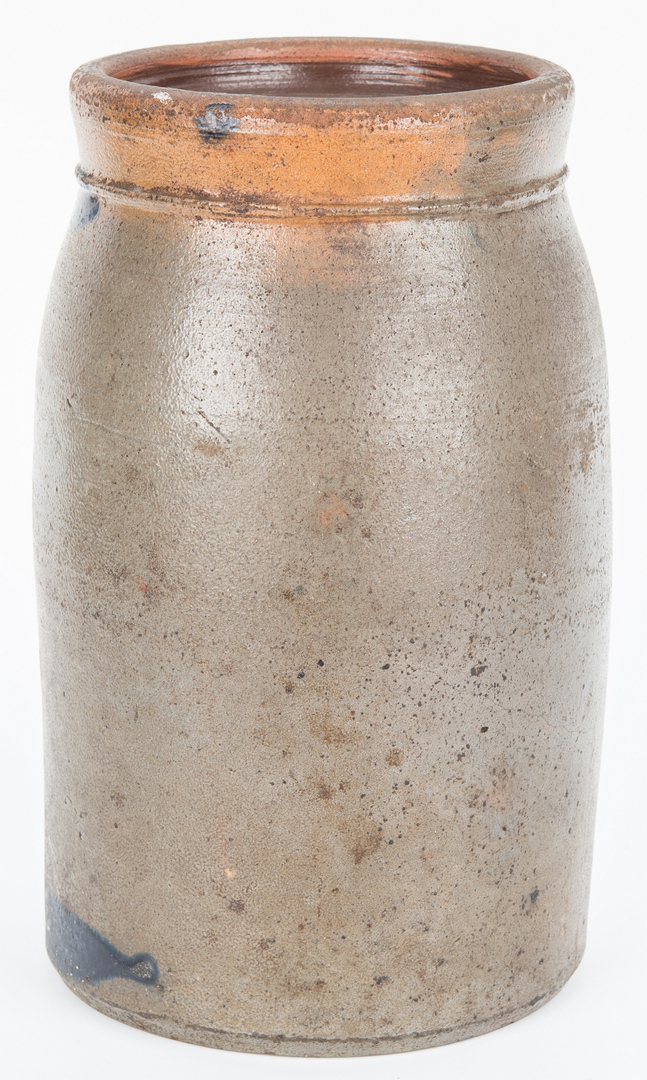 Lot 407: Edgefield TN Stoneware Pottery Jar