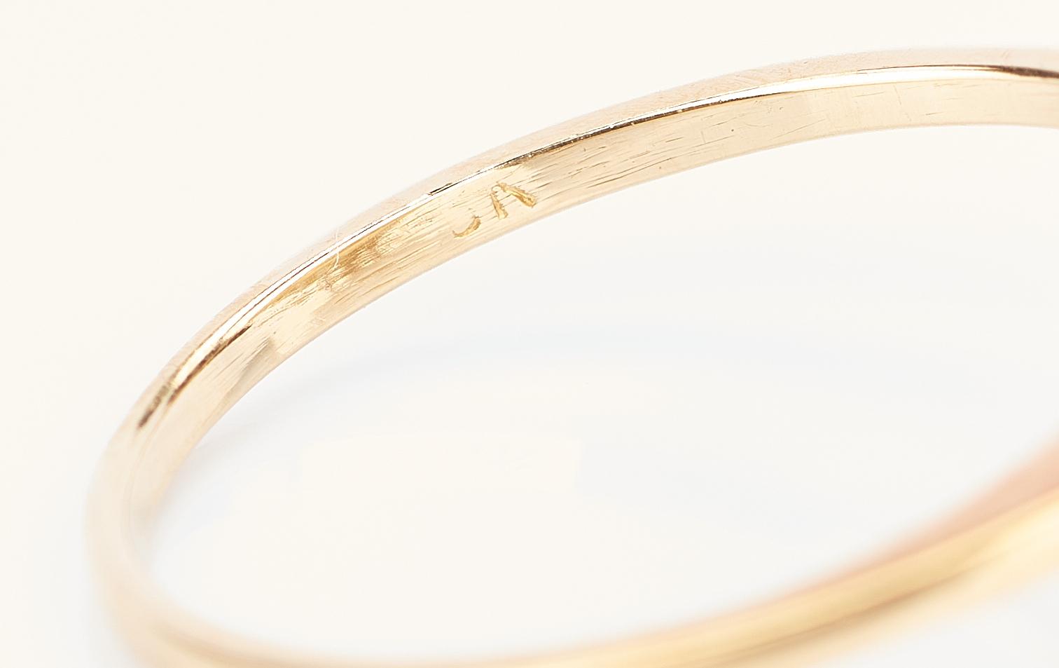 Lot 426: 18K Yellow Gold Diamond Ballerina Ring