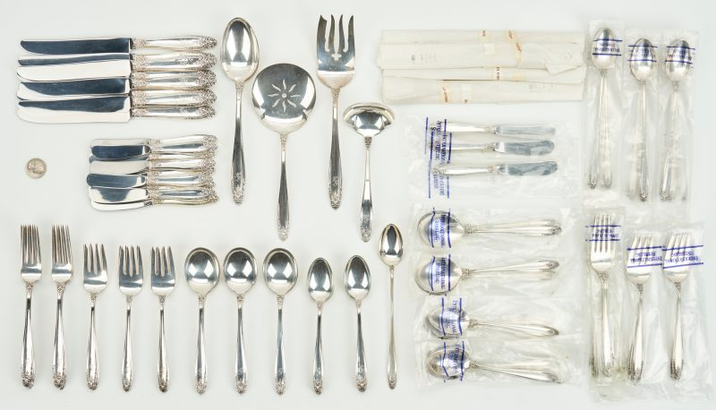 Lot 429: 91 Pcs. International Prelude Sterling Silver Flatware