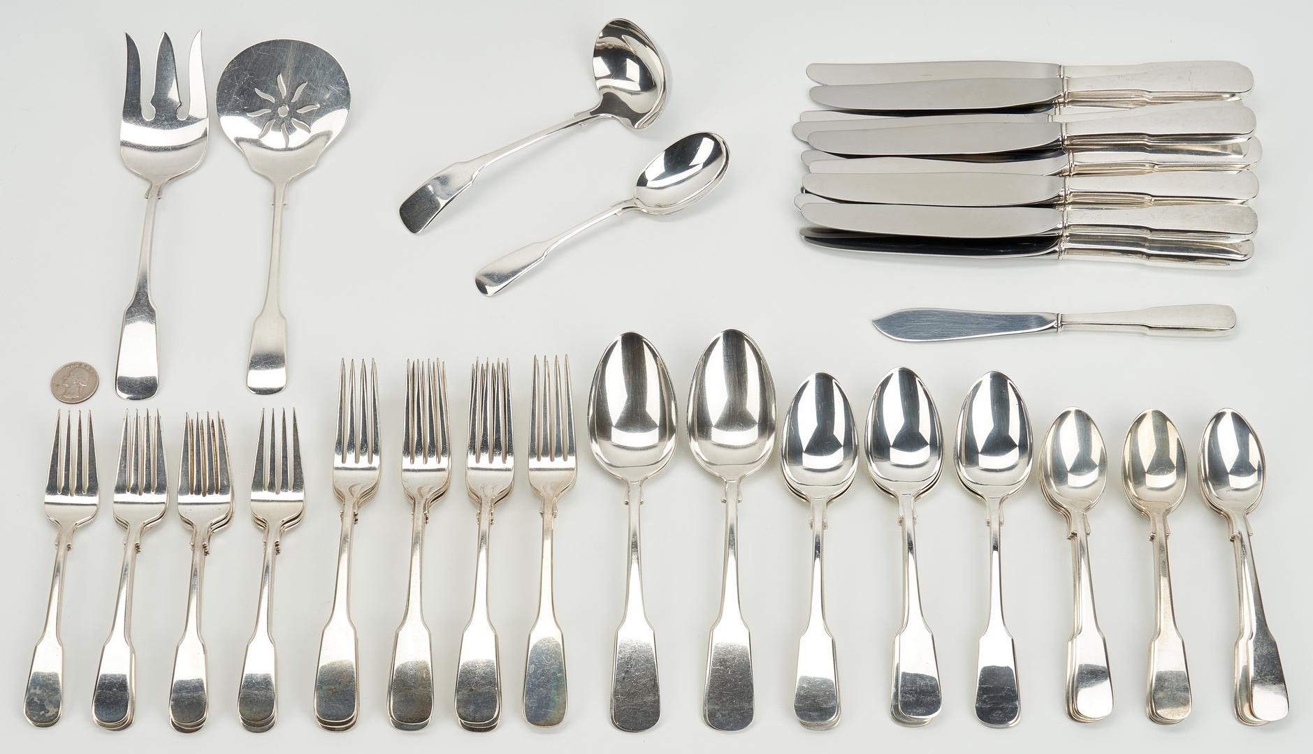 Lot 430: 64 Pcs. International 1810 Sterling Silver Flatware