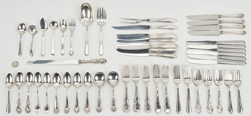 Lot 433: 104 Pcs. Assorted Sterling Flatware inc. Alvin