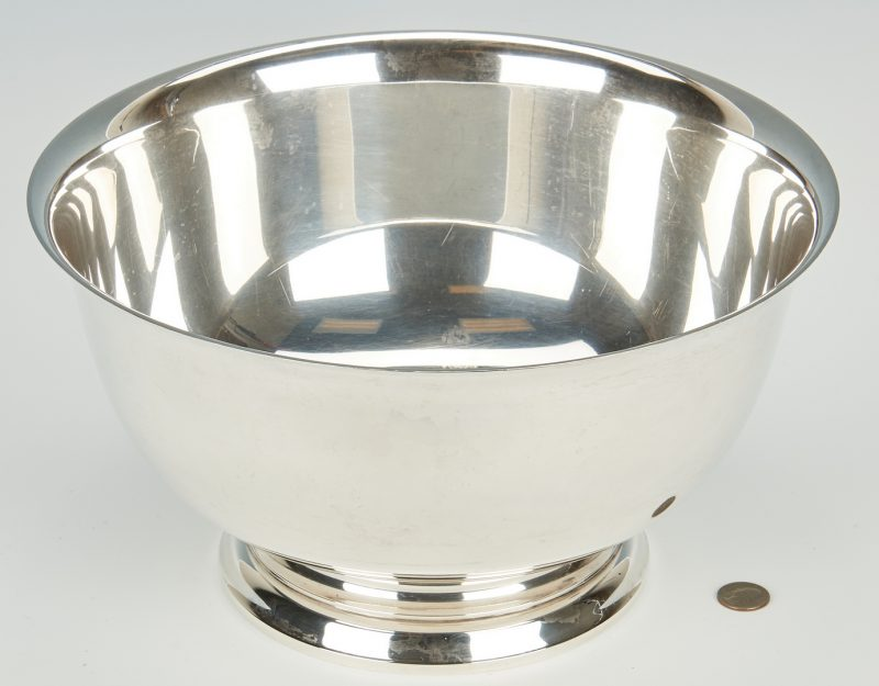 Lot 434: Gorham Sterling Silver Revere Punch Bowl