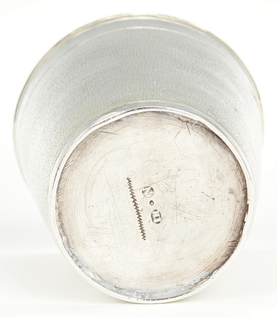 Lot 445: Continental Silver Demitasse Set and Beaker, 5 pcs.