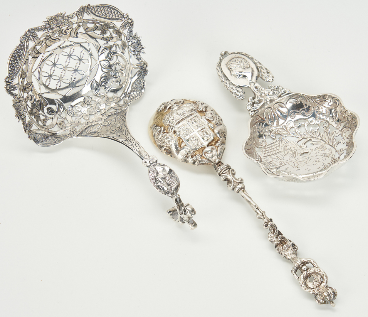 Lot 447: Silver Novelties inc. Tiffany Floral Demitasse