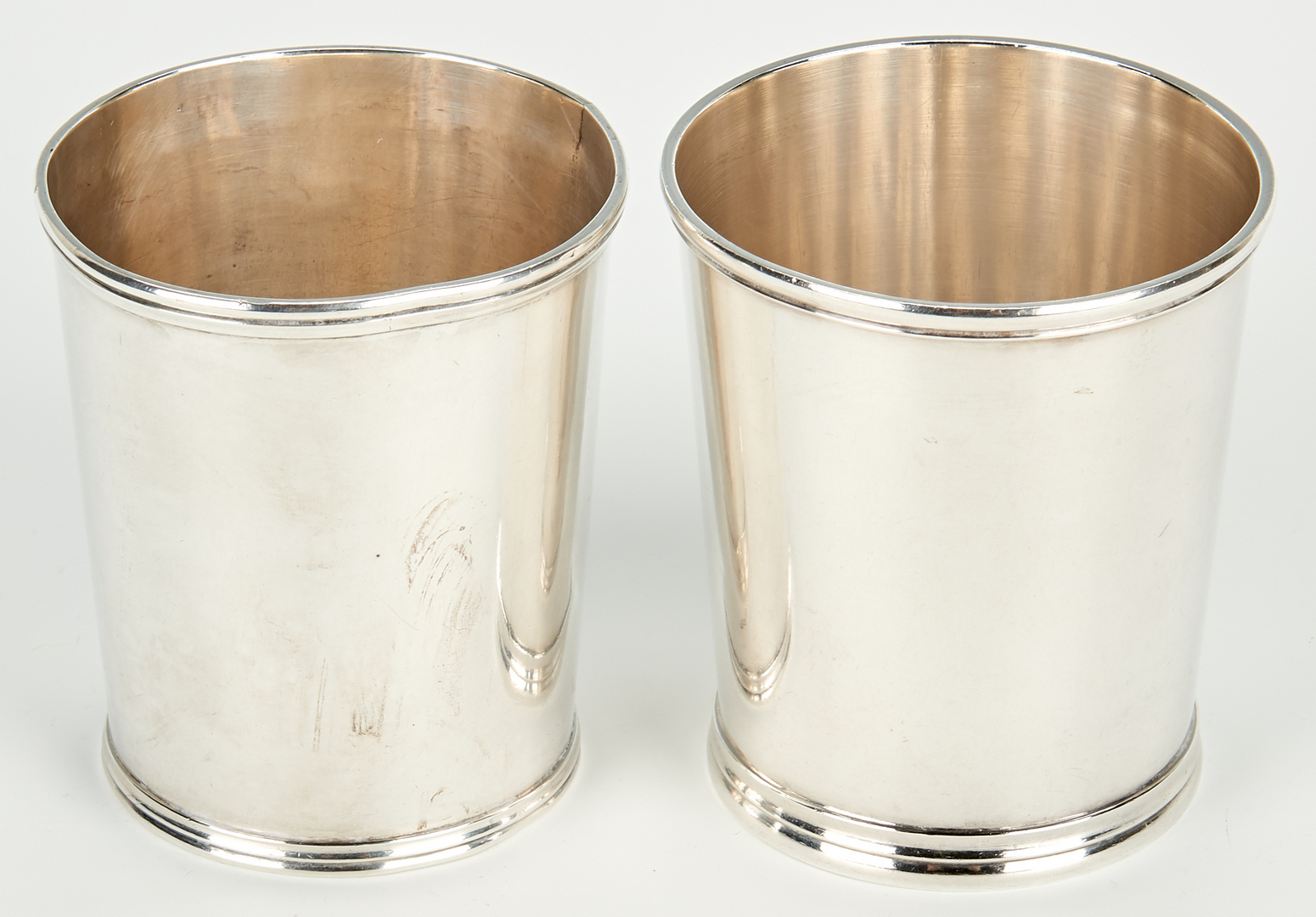 Lot 449: 6 Mint Julep Cups, incl. Wood & Hughes, Duhme & Co.