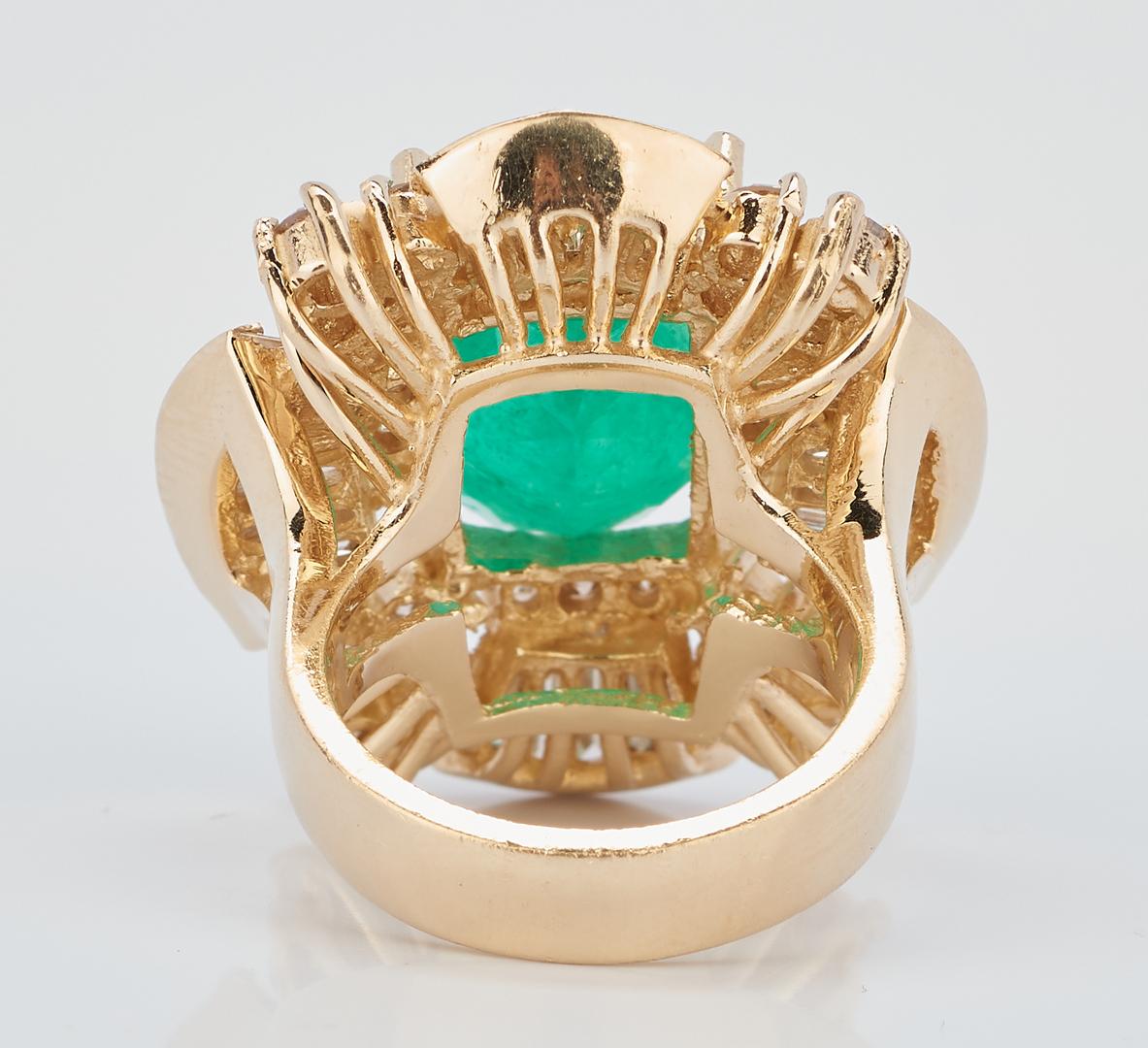 Lot 44: 11 Carat Emerald and Diamond Dinner Ring