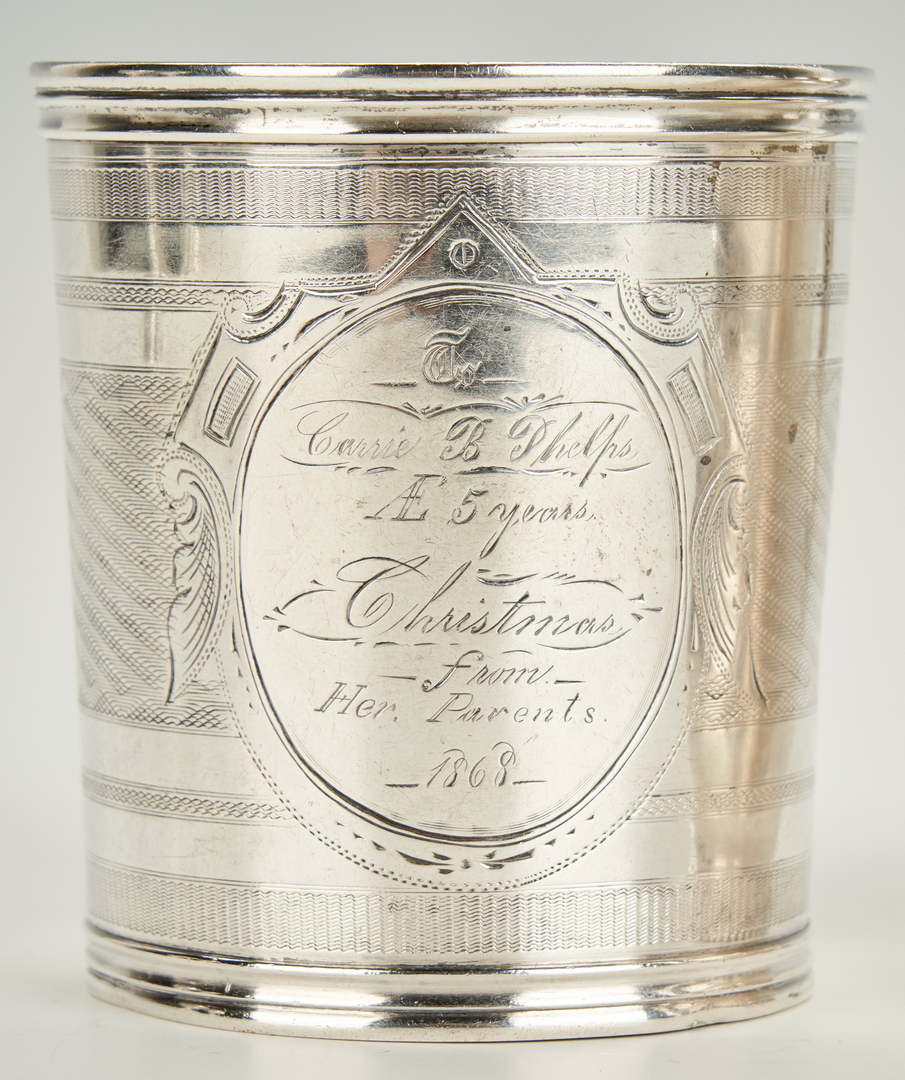 Lot 450: 4 Coin Silver Cups