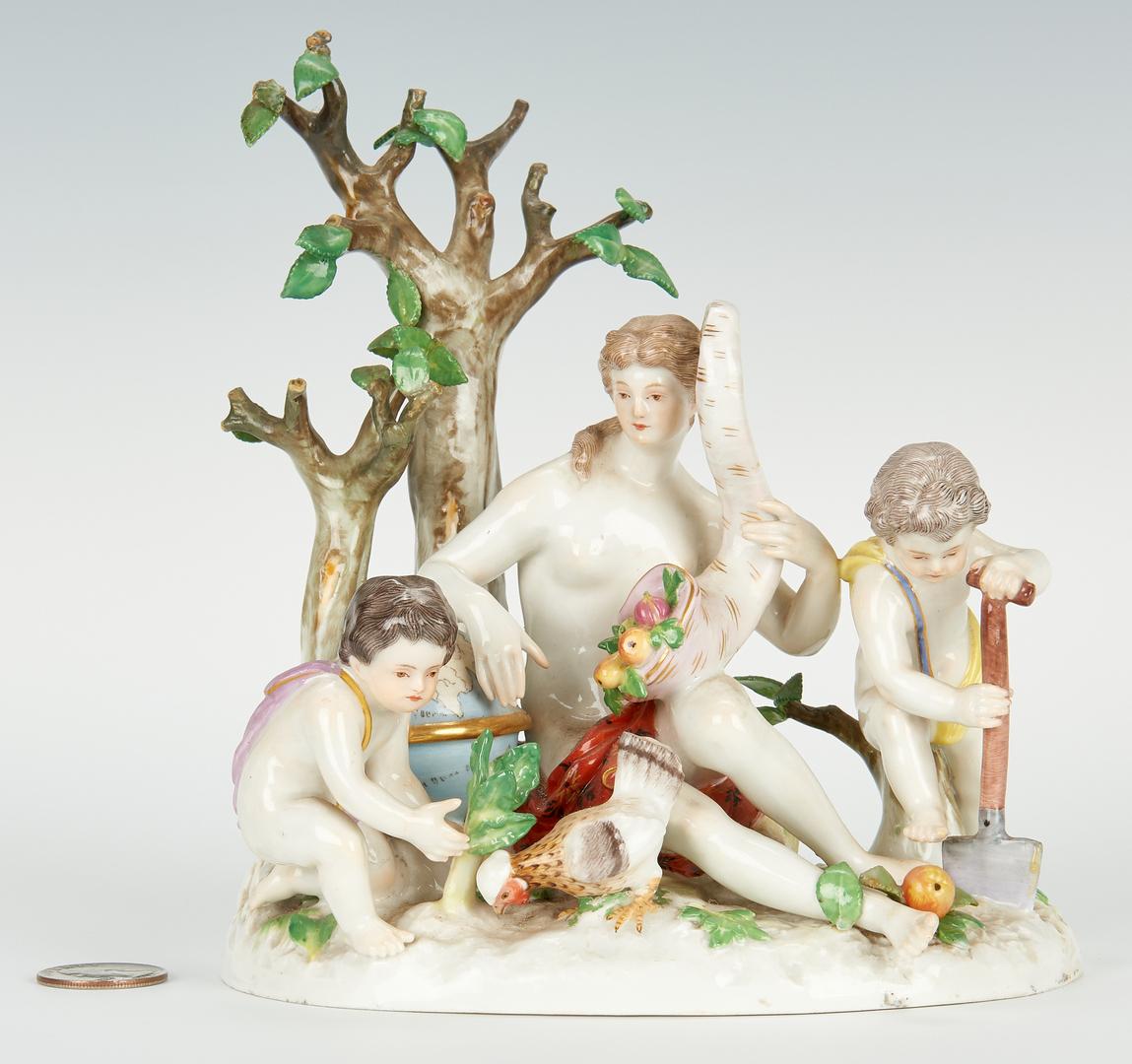 Lot 452: Meissen Figural Group, Earth