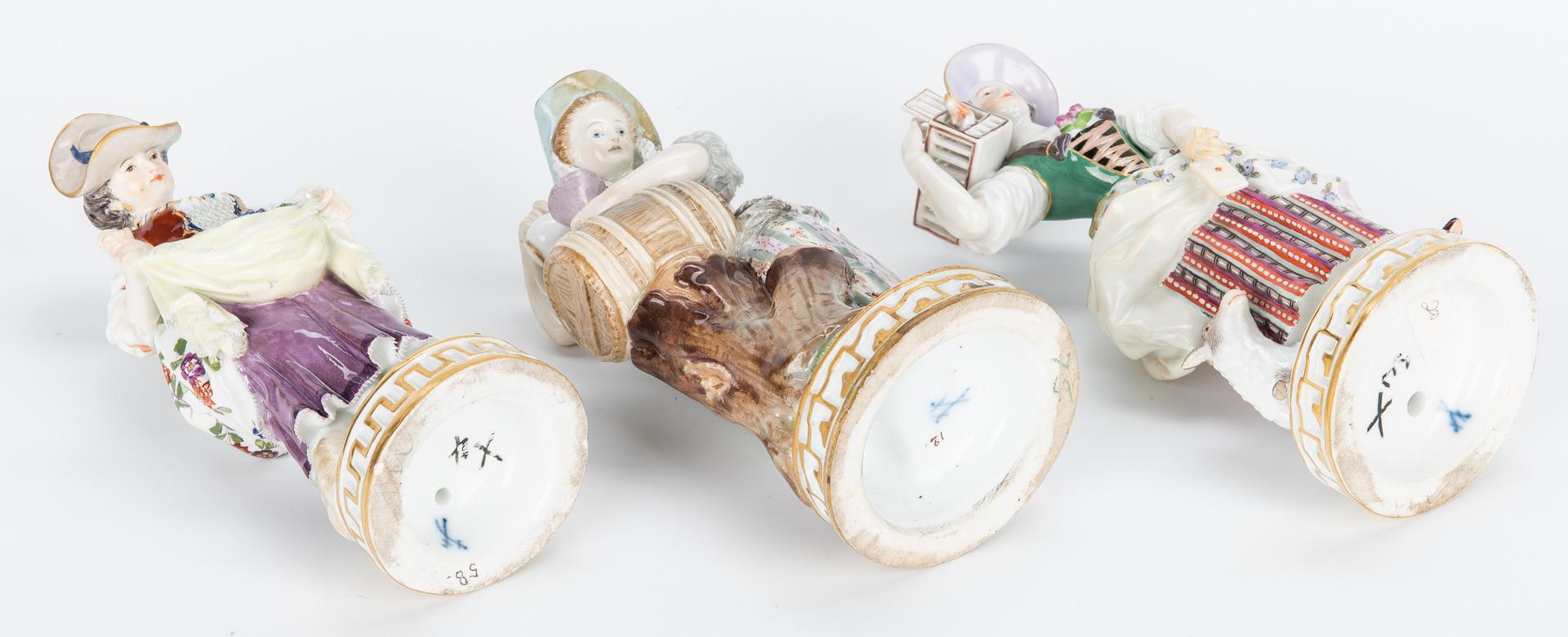 Lot 453: Group of 3 Meissen Female Figurals
