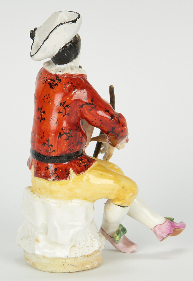 Lot 454: 2 Meissen Porcelain Figurines, Bagpipe Player & Harlequin