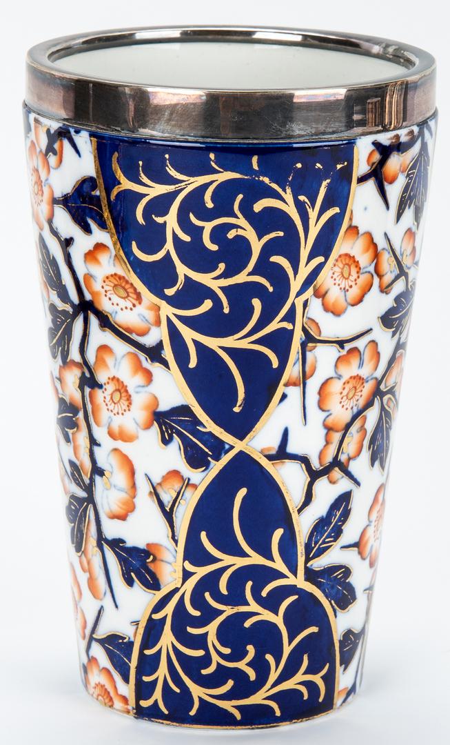 Lot 457: 10 Pcs. English Porcelain, incl. Royal Crown Derby Imari Pattern