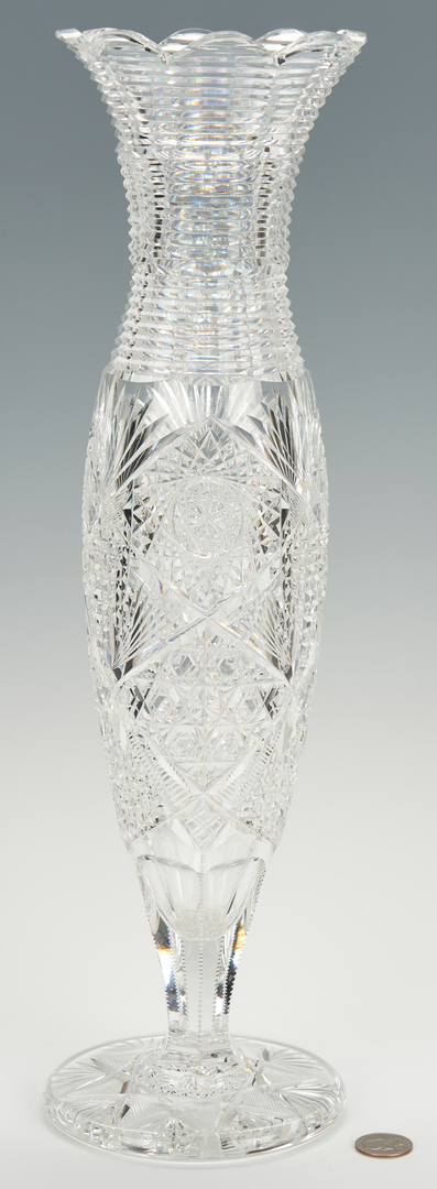 """Lot 465: ABPCG Vase with Stepped Cut Neck, 17"""" H"""