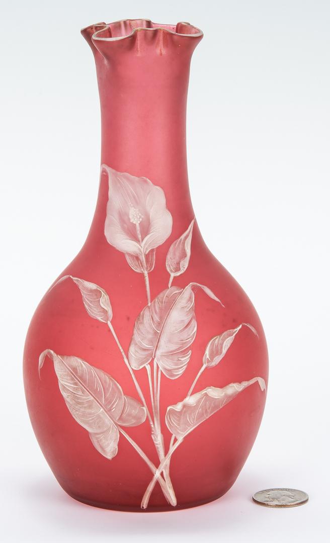 Lot 471: Webb Cameo Glass Vase, attrib. Thomas Webb