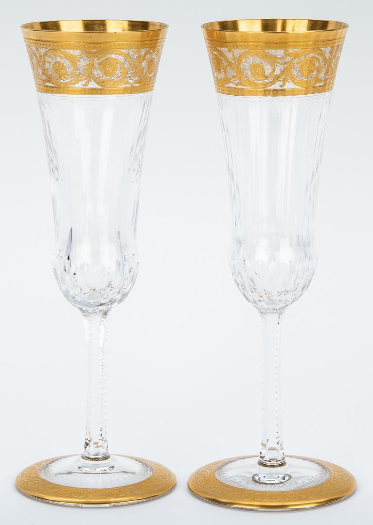 Lot 472: 23 Pcs. St. Louis Glass Thistle Pattern Stemware
