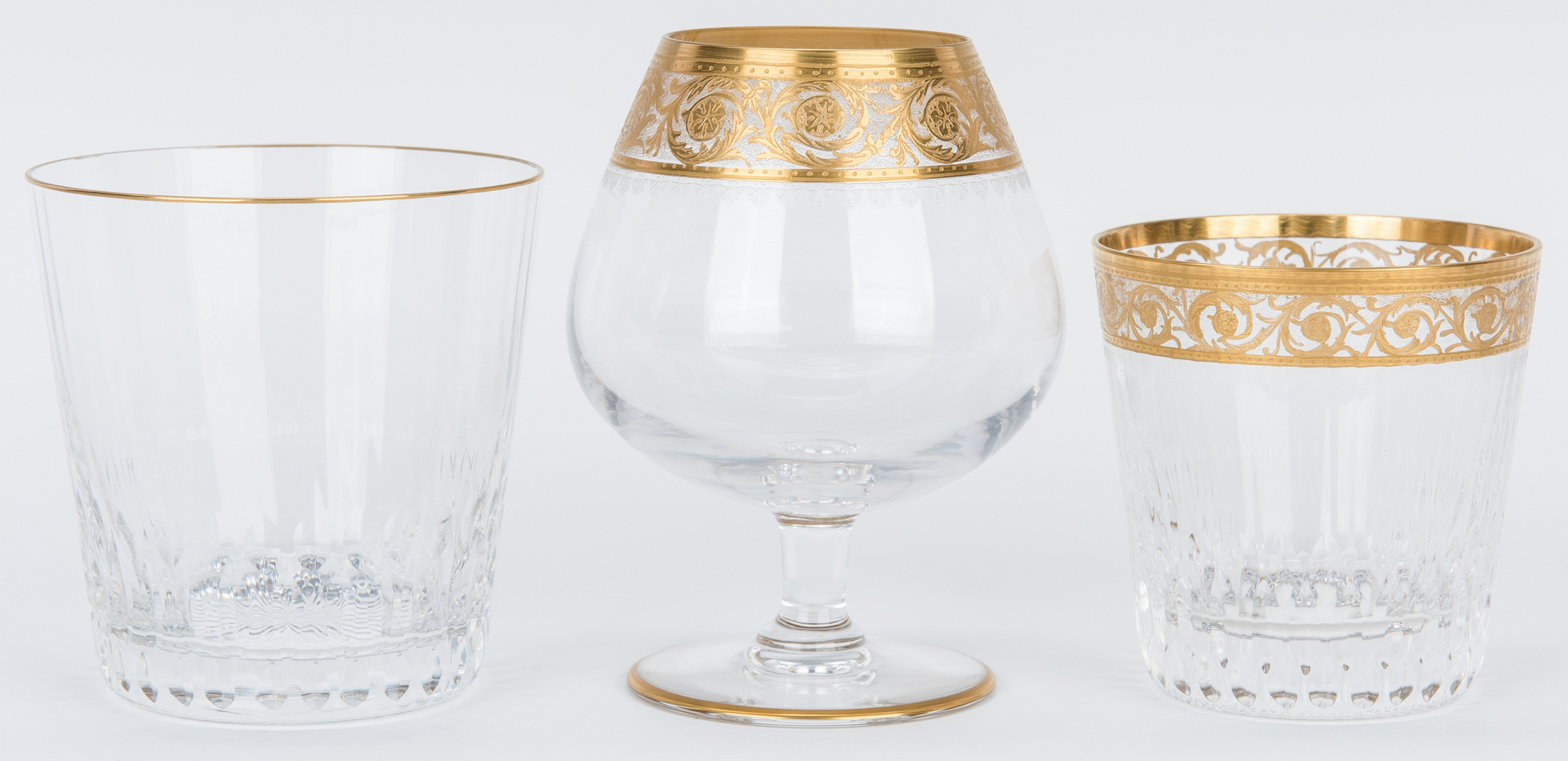 Lot 473:  St. Louis Crystal Ice Bucket w/ 6 Glasses