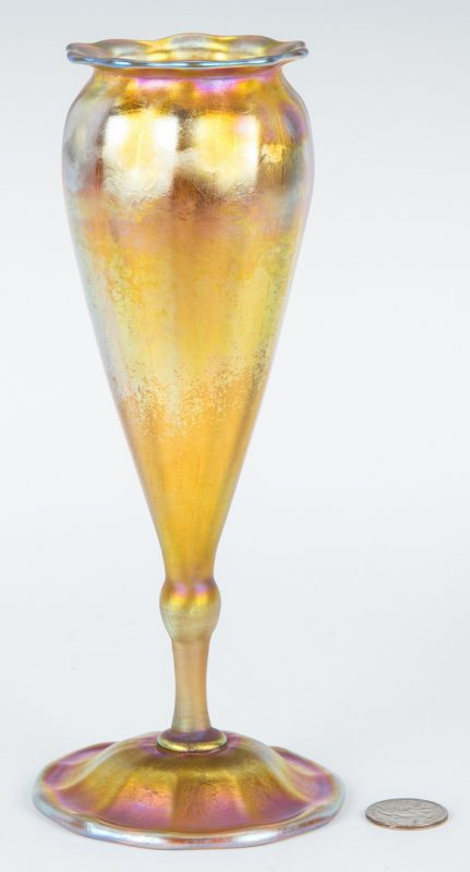 Lot 478: Tiffany Favrile Art Glass Vase