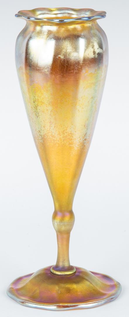 Lot 478: Tiffany Favrile Art Glass Vase